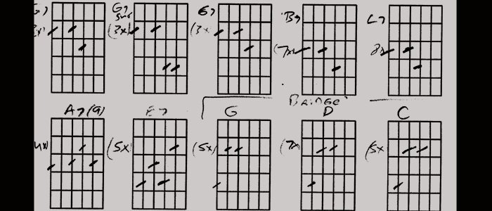 "Guitar chords to ""Sitting"" – Evan Goodrow"